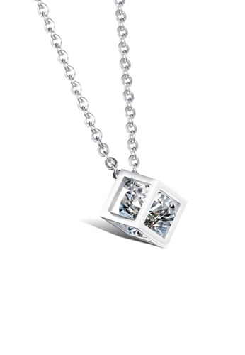 ADORA Stainless Steel Zircon Pendent Necklace 337B0AC60A24BEGS_1