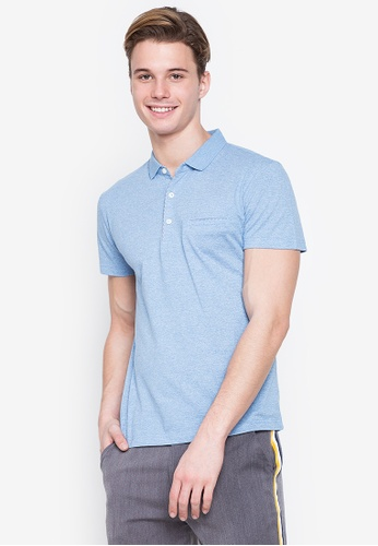 MICK + MARTY blue Plain Pocket Polo Shirt A6B4DAA2D5869DGS_1