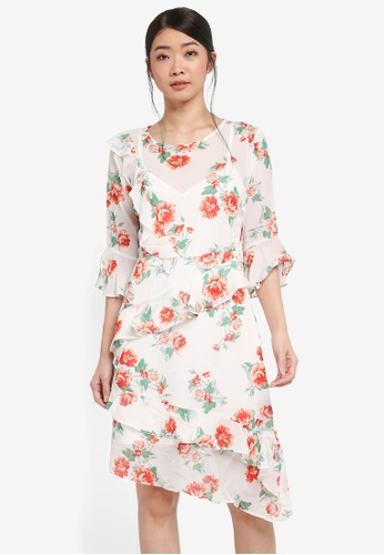 Miss Selfridge multi CNY Print Floral Midi Dress 721BAAAE68AEDEGS_1