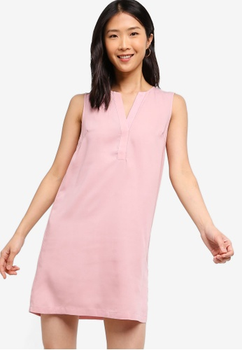 ZALORA BASICS pink Basic A-Line Dress 577F1AADEA087EGS_1
