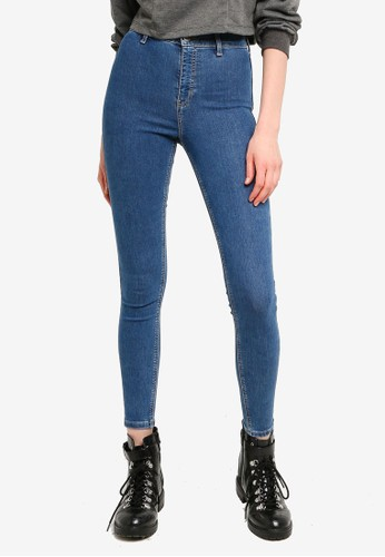 TOPSHOP blue Mid Wash Denim Joni Jeans EC76CAAF399721GS_1