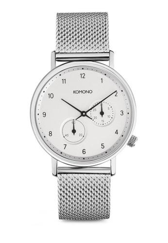 KOMONO silver Walther Silver Mesh Watch KO163AC0T0U2MY_1