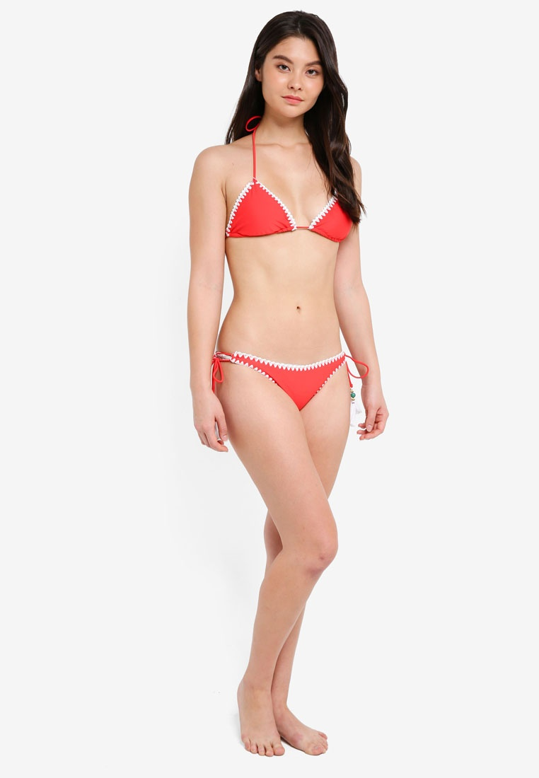 Set Bikini Caren Red Boho Yshey Romantic Cwqt6CI
