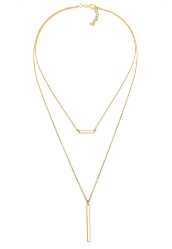 Elli Germany gold Perhiasan Wanita Perak Asli - Silver Layer Choker Geo Minimalis Emas FCE39AC9C9C3DDGS_1