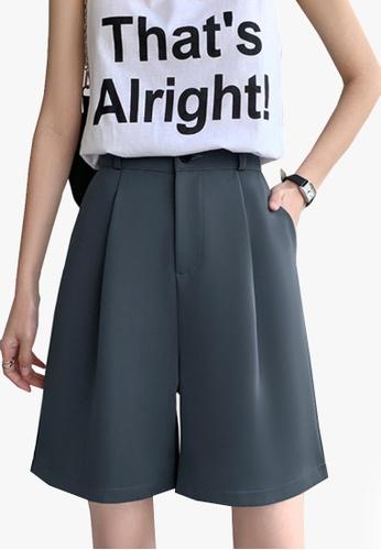 Twenty Eight Shoes grey VANSA Solid Color Wide-leg Suit Shorts   VCW-St6683 E07CDAAD7963ADGS_1