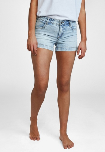 Cotton On blue Mid Rise Classic Stretch Denim Shorts 0D4EAAAFD71C21GS_1