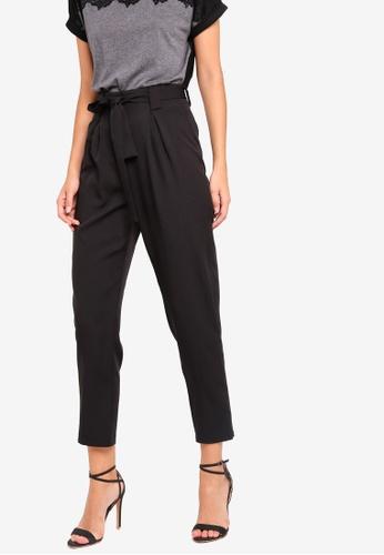 ZALORA black Straight Cut Formal Trousers With Pleats 541CFAA15C3E12GS_1