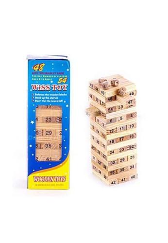 Toylogy multi Mini Balok Susun Kayu Uno Stacko Wiss Toy Figures 54 Pcs ( Angka ) 0FACDTH52F7E43GS_1