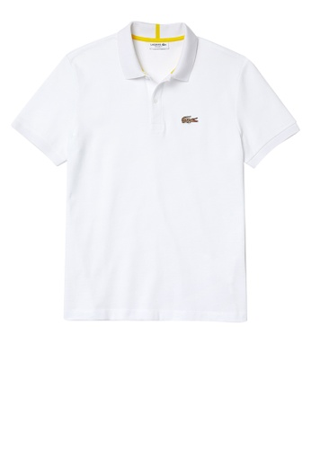 Lacoste white Men's Lacoste x National Geographic Organic Cotton Pique Polo Shirt 35F81AA677584FGS_1
