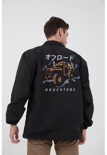 Berrybenka Label black Men Coach Jacket Jeep Adventure Black A100DAA9F6200CGS_1