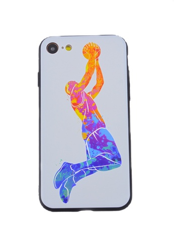 Fancy Cellphone Cases multi Basketball Soft Case for iPhone 7/8 8D760AC4855463GS_1