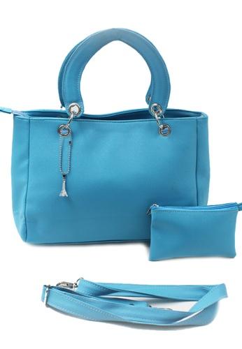Vintage Paris blue Emery Hand Bag with Sling VI567AC13ZOCPH_1