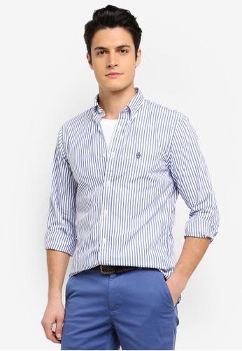 Brooks Brothers blue Red Fleece Yarn Dyes Bluestripe Shirt C95A0AACD61288GS_1