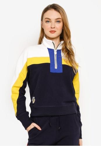 SUPERDRY 海軍藍色 Sportstyle Dolmon Funnel Sweatshirt - Sportstyle Code 02D1BAAC408F35GS_1