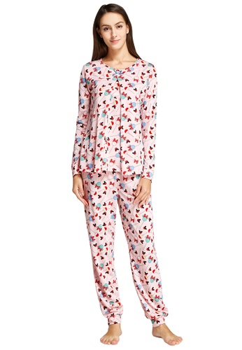 Mamaway pink Minnie Lollipop Maternity & Nursing Pajamas/ Sleepwear Set C80A1AAF27B7D1GS_1
