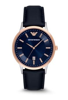 5f22e080816c9d ARMANI blue Emporio Armani Renato Leather Watch AR2506 E663CACFF93739GS_1