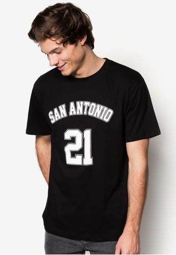 San Antonio #21 籃球風T 恤, esprit outlet hong kong服飾, 印圖T恤