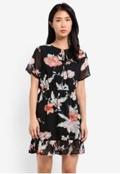 ZALORA black Fit & Flare Dress with Frills C8FDFZZ6C929FAGS_1