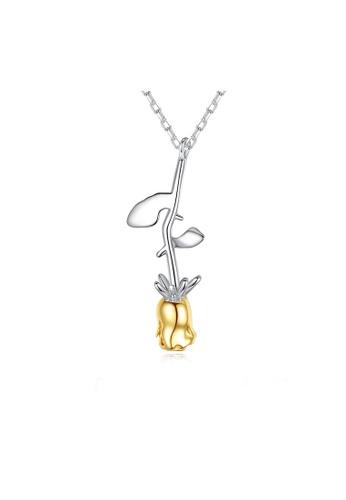 SUNRAIS silver Premium Silver S925 Silver Flower Necklace 1EE08ACAFCD57BGS_1