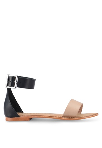 Vero Moda white Elsa Leather Sandal 7CBDASH633E352GS_1