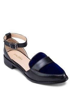 Cut Out Ankle Strap Loafers