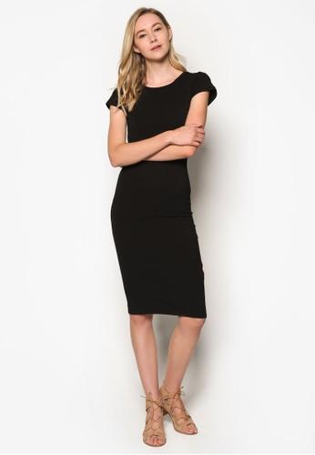 Kn Andrea 撞色滾邊短袖洋裝, 服飾esprit 會員, 簡約優雅風格