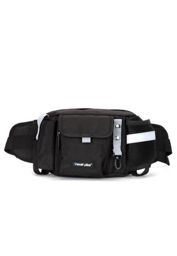 Travel Plus black Dandi Waist Bag E024BACB6C013BGS_1