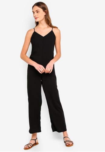 ZALORA BASICS black Basic Relaxed Fit Jumpsuit 10588AA6EF741CGS_1