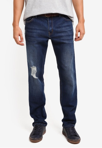 Penshoppe blue Distressed Mid Rise Skinny Fit Jeans BBD83AAE1612A4GS_1