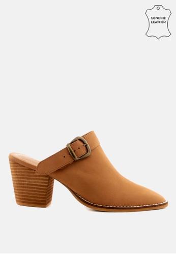 RAG & CO 褐色 粗跟女鞋 C73BASHADD9CB4GS_1