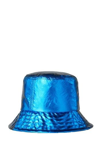 KARL LAGERFELD blue K/Ikonik Metallic Bucket Hat 7CDE7AC1584BBEGS_1