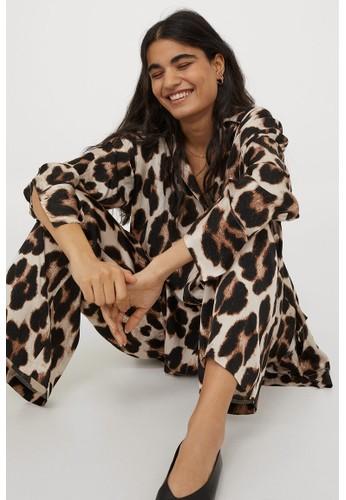 H&M black Patterned trousers FBC3AAADFDA3F0GS_1