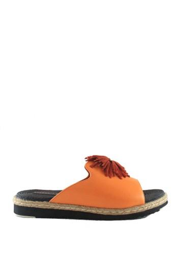 STEFANIA BALDO orange Bluss Sandals B787BSH7D42A55GS_1