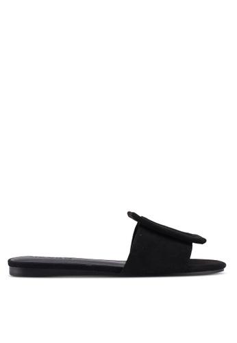 Mango black Buckle Flat Sandals 687C3SH176590DGS_1