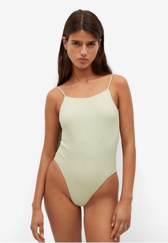 Mango green Ribbed Bodysuit 0E75CAAEE527B7GS_1