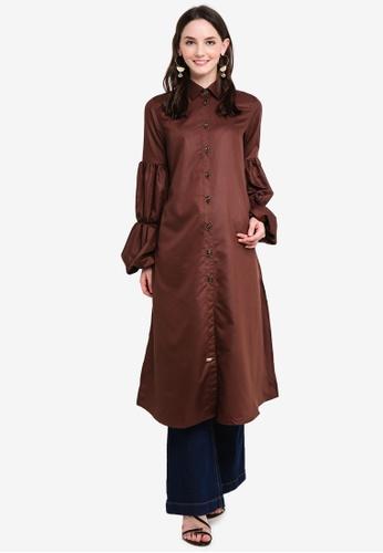d9f28724505 Buy UMMIRIAZ Erna Long Tunic Online | ZALORA Malaysia