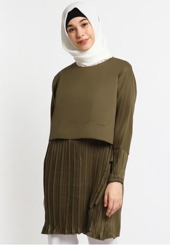 Le Najwa green Ines Tunik 2E51AAAE304146GS_1