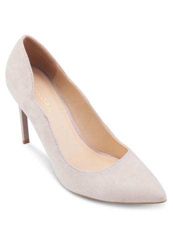 基zalora taiwan 時尚購物網鞋子本款扇貝邊飾高跟鞋, 女鞋, 鞋