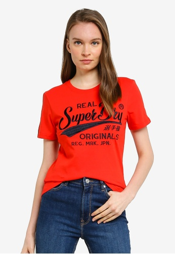 SUPERDRY red Ro Piping Entry Tee A8701AAACC9BCEGS_1