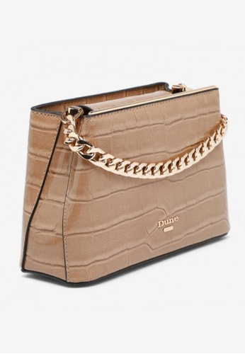 Dune London beige Dune London Dileina Chain Detail Small Day Bag 0BE22AC7591876GS_1