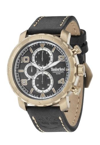 Timberland black TIMBERLAND TBL.14865XSK/02 Norwood Men Rosegold Leather Watch 4A679ACA23B4FCGS_1