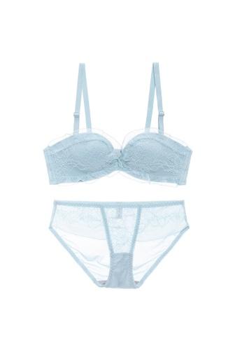Midnight 藍色 Premium Lace Blue Lingerie Set (Bra and Underwear) DABBAUS0CD0FE1GS_1
