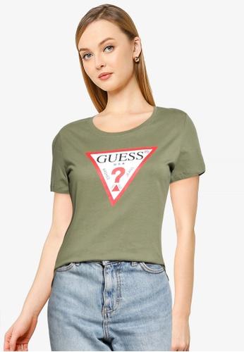 GUESS green Short Sleeve Crew Neck Original Tee C95BBAAC8B34B5GS_1