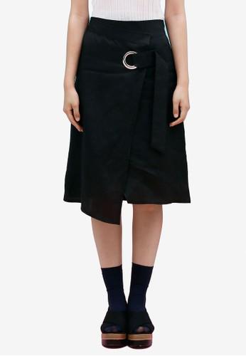 裹飾及膝短esprit tsim sha tsui裙, 服飾, 裙子