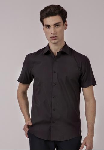 The Executive black Quick Dry Slim Dark Shirt 04AC1AAD8496BBGS_1