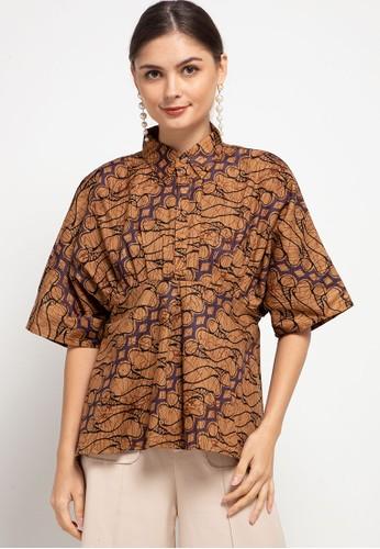 Vestiti brown Eila Atasan Batik E60E5AA502B43EGS_1
