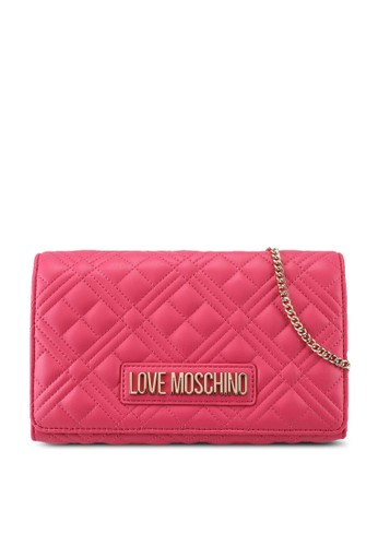 Love Moschino pink Diamond Quilted Crossbody Bag 9DC03ACC58B812GS_1