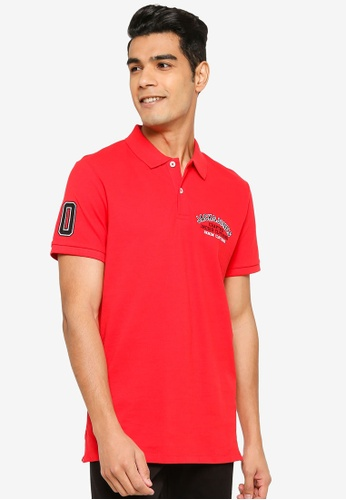 Jack & Jones red Casual Polo Shirt DBEB1AABE4F9DAGS_1