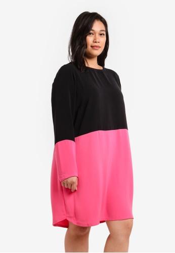Junarose black Plus Size Macha Long Sleeve Above Knee Dress JU731AA0S5PEMY_1