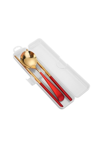 Table Matters red Waltz 2 Piece Portable Cutlery Set (Red) DBC2CHLAE51A2DGS_1